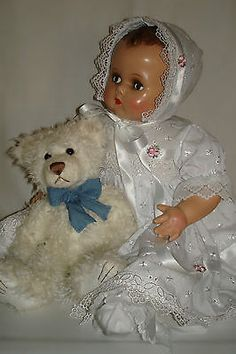"22"" Vintage Composition & Cloth Arranbee Flirty-Eyed Baby Doll w/Working Crier"