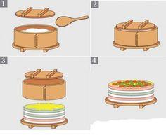 how to make a round oshi #sushi cake