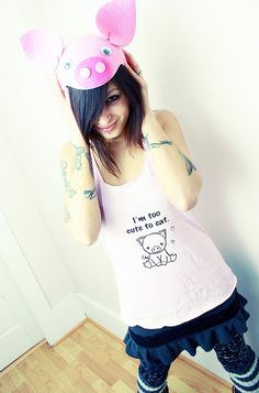 ReLove Planet  PIGGY Too Cute to Eat RacerBack by ReLovePlanet, $40.00