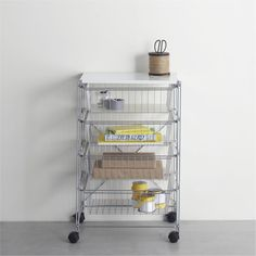 Wire drawers are sturdier than the plastic bins from big box stores