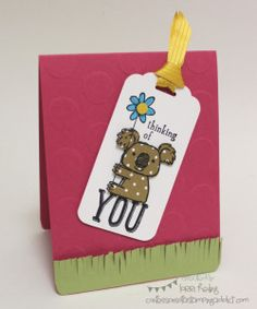 Koala Card :: Confessions of a Stamping Addict Kind Koala Lorri Heiling Stampin' Up