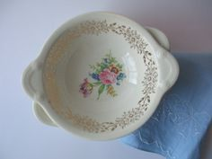 Vintage Taylor Smith Taylor Pink Blue Floral by thechinagirl
