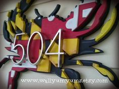 Large 3D MARYLAND FLAG CRAB with numbers Wooden Faux Vintage Look Plaque 20x15 Layered Wood Wall Sign on Etsy, $75.00