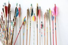 Collection of Vintage Arrows (Set of 5) via Etsy // love the incorporation of more masculine items in a girlie room