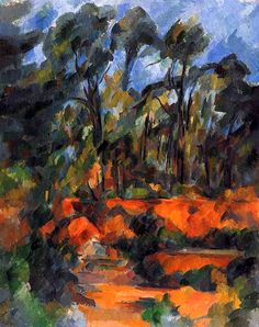 Paul Cezanne - Forêt (1902-1904) forest