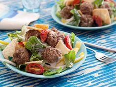 Greek Meatball Salad #myplate #veggies #protein