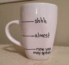 Handwritten Coffee Mug fill line mug shhh by simplymadegreetings, $11.00