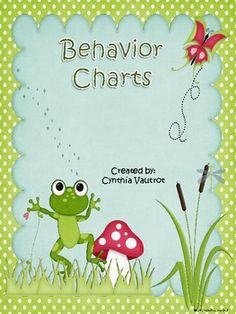Use this behavior chart to keep track of your student's behavior for 6 weeks.See my coordinating Back-to-School Frog Theme....