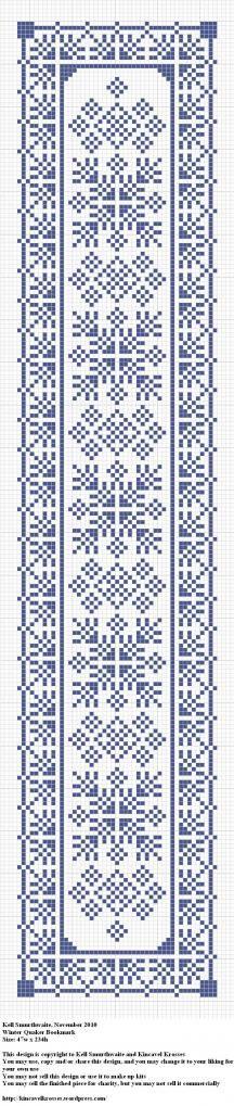 Winter Quaker Bookmark