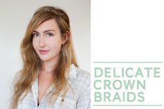 delicate crown braids