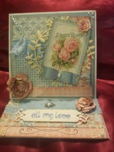 Graphic 45 Secret Garden Easel Card by Sharon Munday