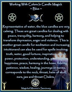 Blue Candle Magick, Magickal Moonie's Sanctuary