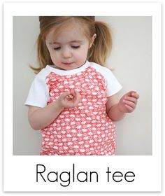 Very cute raglan tshirt for kids... Need to find cute boy fabric now!