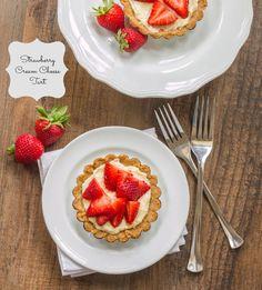 Strawberry Cream Cheese Tart on MyRecipeMagic.com