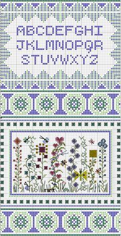 Teeny Garden Sampler - free pattern