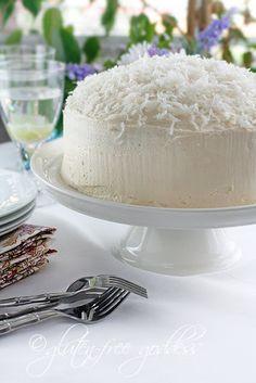 Gluten-free Coconut Layer Cake by @Karina Allrich at Gluten-Free Goddess