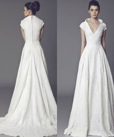 Tony Ward Wedding Dresses 2015 Collection - what a different look - love the buttons in back and the lovely neck