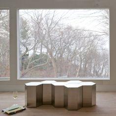 Lerival Hex Table #furniture #decor #stainlesssteel #hexagon #moderndesign