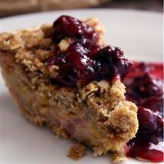 Sour Cream Rhubarb Pie Allrecipes.com