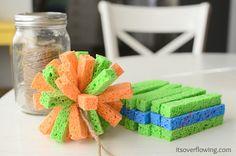 water sponges tutorial.