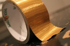 4 ways to decorate with gold duct tape
