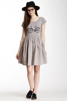 FC Jeans Bicycle Jersey Short Sleeve Dress//