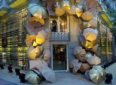 Burberry | Umbrella Facade, Press Event by Millington Associates