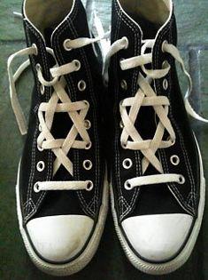 Jewish Star laced hightops | Tumblr