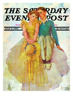 On Top of the World Saturday Evening Post Cover, July 11,1936 Giclee Print by Norman Rockwell