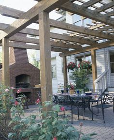 Outdoor fireplace on Pinterest Pizza Ovens Brick Ovens