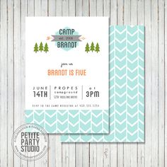Camping Theme Printable Birthday Party by PetitePartyStudio, $15.00