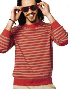 Vedoneire - Mens Cotton Stripe Jumper (4305) various colours, £49.99  #Vedoneire #Fashion #Menswear #SS14 #IrishBrands #Ireland #Apparel #MensFashion (http://www.vedoneire.co.uk/mens-cotton-stripe-jumper-4305-various-colours/)