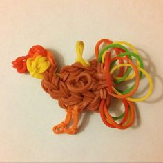 A Turkey on the Rainbow Loom!!  Happy Thanksgiving!