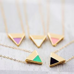 Enamel Triangle Necklace - necklaces & pendants
