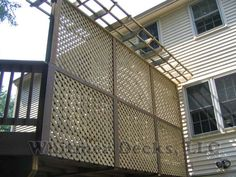 Lattice privacy deck panel.