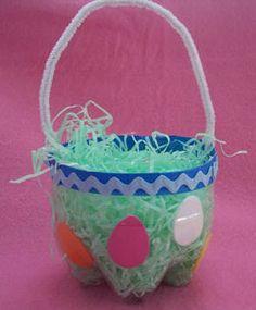 Soda Bottle Easter Basket  |  CraftElf.com
