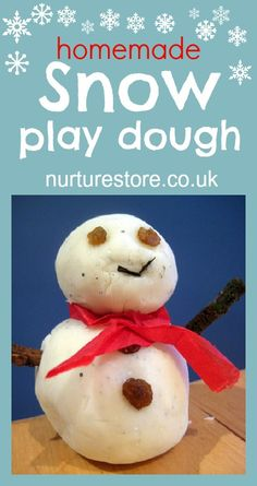 snow play dough