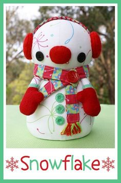 Melly and Me SNOWFLAKE Snowman Sewing Pattern door MyPatternPlace, $6.00