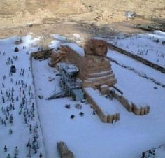 December 13, 2013: Snow in Egypt for the first time in 112 years.