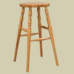 Heritage Colonial Round Seat Counter Stool