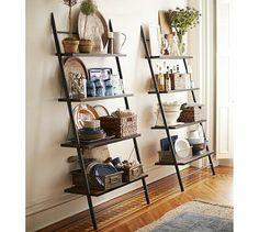 Morgan Leaning Bookcase #potterybarn