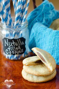 Nutella stuffed Cake mix cookies!