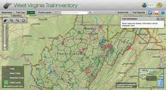 The Trail Map We've All Been Waiting For: A new online inventory maps West Virginia's Trails - WV Living - http://mapwv.gov/trails/