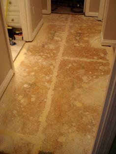 prepared bare concrete floor