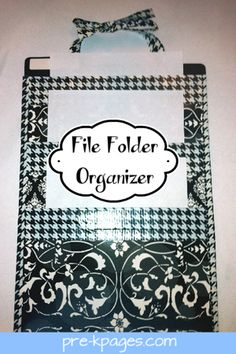Cheap DIY vertical file folder organizer
