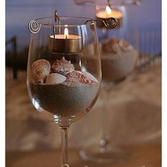 Beach wedding centerpiece ideas.