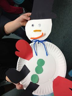 Snowman Art. crafti kid, kid craftsact, plate snowman, snowman crafts, snowman art, school idea, christma, paper plates, januari idea
