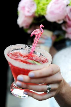 The pink flamingo drink.