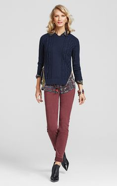Playfall Me. Adore this look for Fall! #CAbi www.marybrock.cabionline.com
