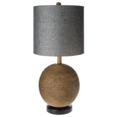 Mudhut™ Sphere Table Lamp- Brown (Includes CFL Bulb)